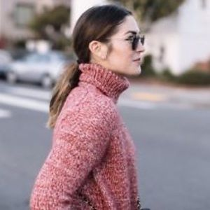 JCREW marled Italian woolblend turtleneck sweater